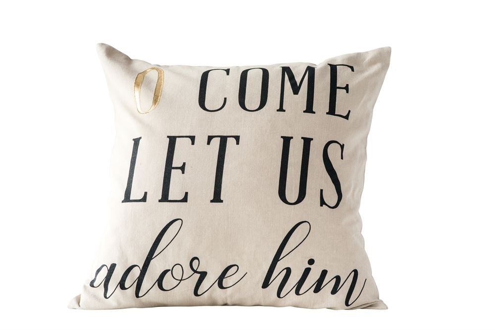 """O Come Let Us Adore Him"" Pillow"
