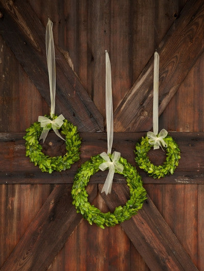 Boxwood Wreath With Ribbon