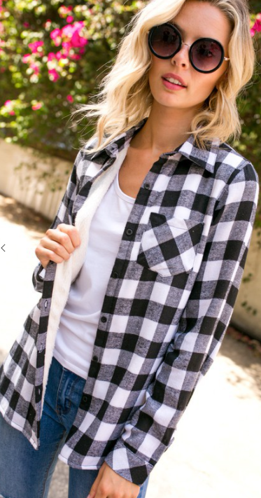Fleece Lined Plaid Button Down