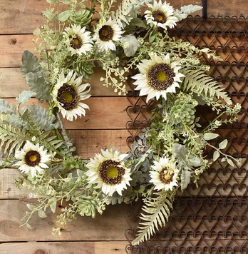 Sunwashed Succulent Wreath