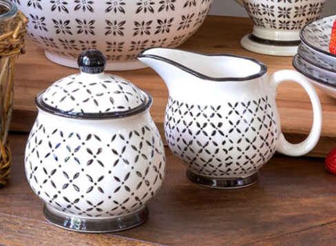 Norden Pattern Creamer & Sugar Pitchers