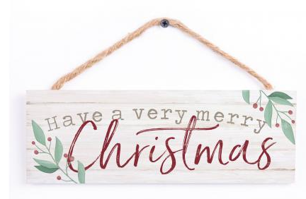 Christmas String Sign