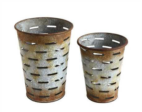 Reproduction Metal Olive Buckets