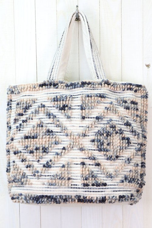 Large Diamond Patterned Tote Bag