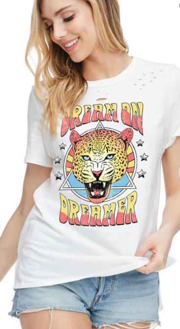 Dream On Dreamer Leopard Tee