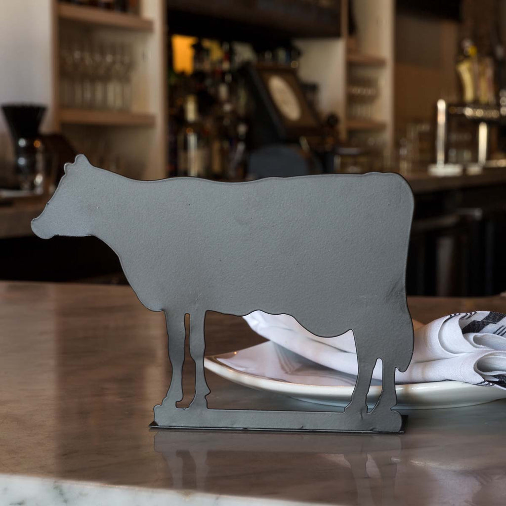 Metal Chalkboard Cow