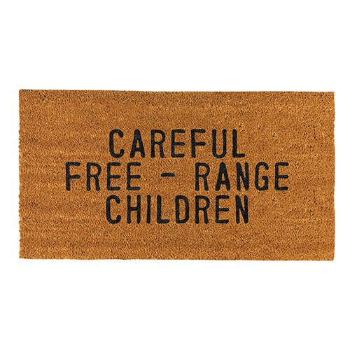 Careful- Free Range Children Door Mat