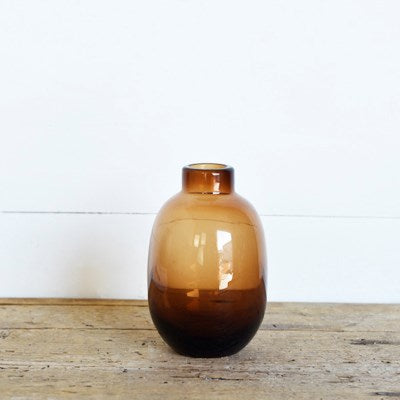 Amber Bottle Vases