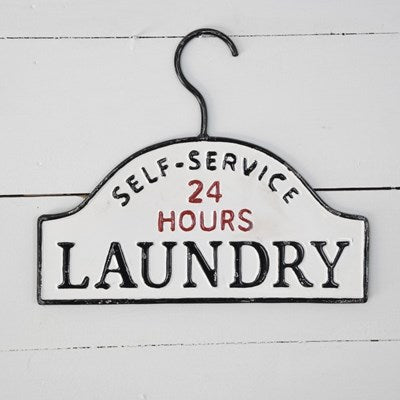 Enamel Hanger Laundry Sign