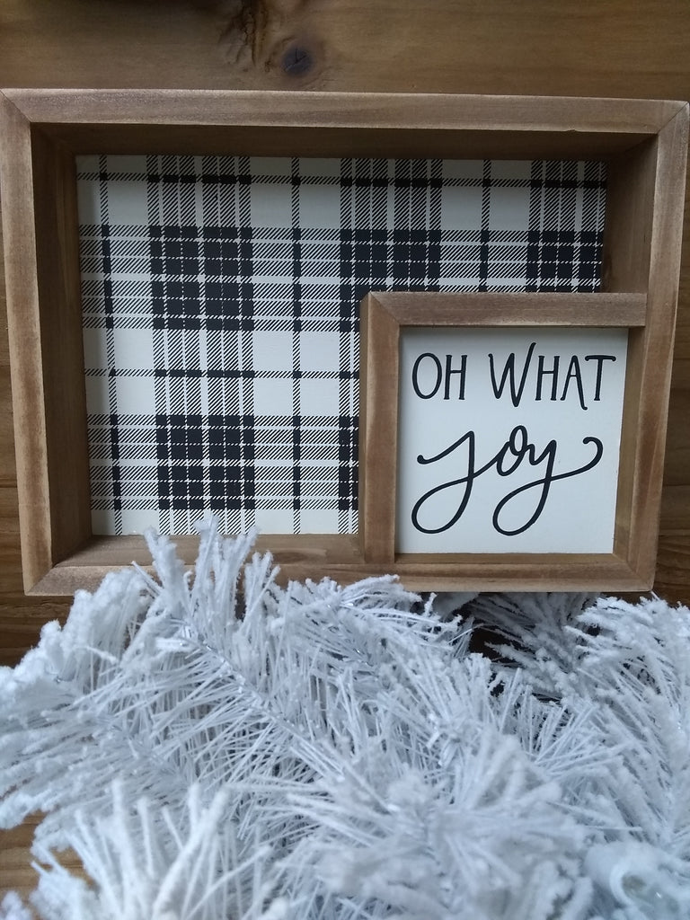 Oh What Joy Box Sign
