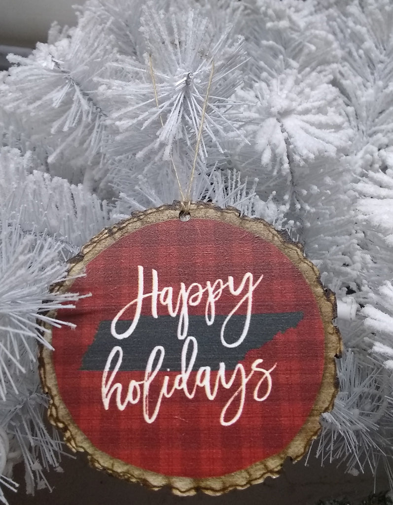 Happy Holidays Tennessee Ornament