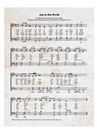 Small Wood Hymn Sign