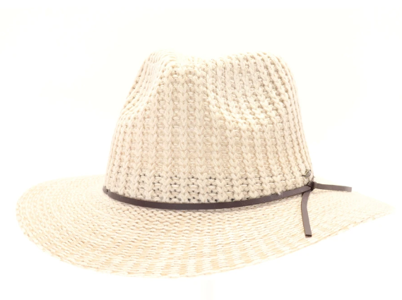 Knit Fedora Hat