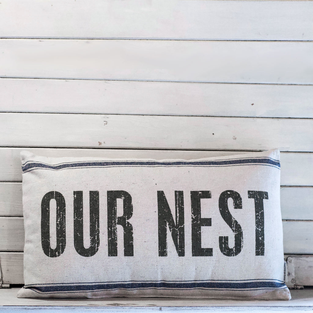 Our Nest Throw Pillow