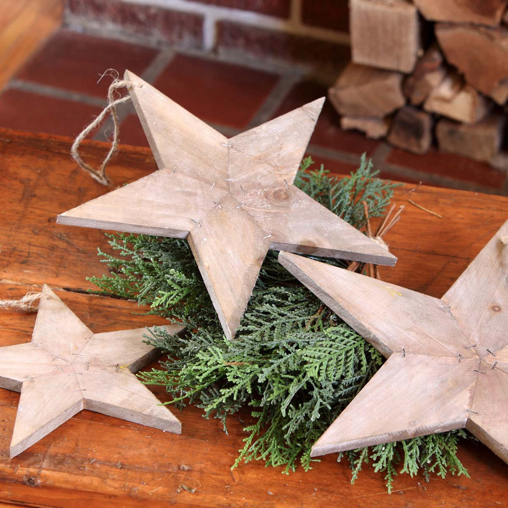 Reclaimed Wooden Star Ornament