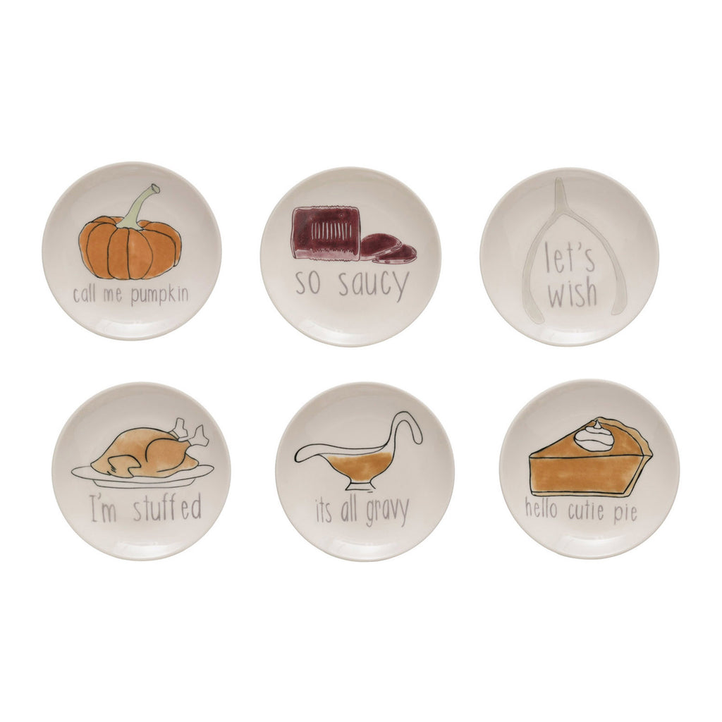 Thanksgiving Stoneware Plates