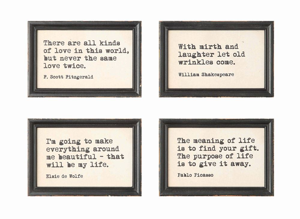 Wise Words Framed Quotes