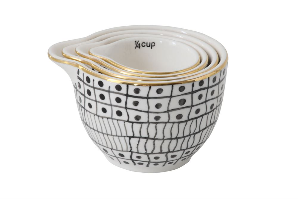 Gold Rim Measuring Cups