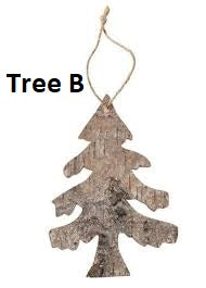 Birch Bark Ornaments