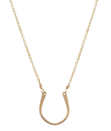 Tiny Horseshoe Necklace