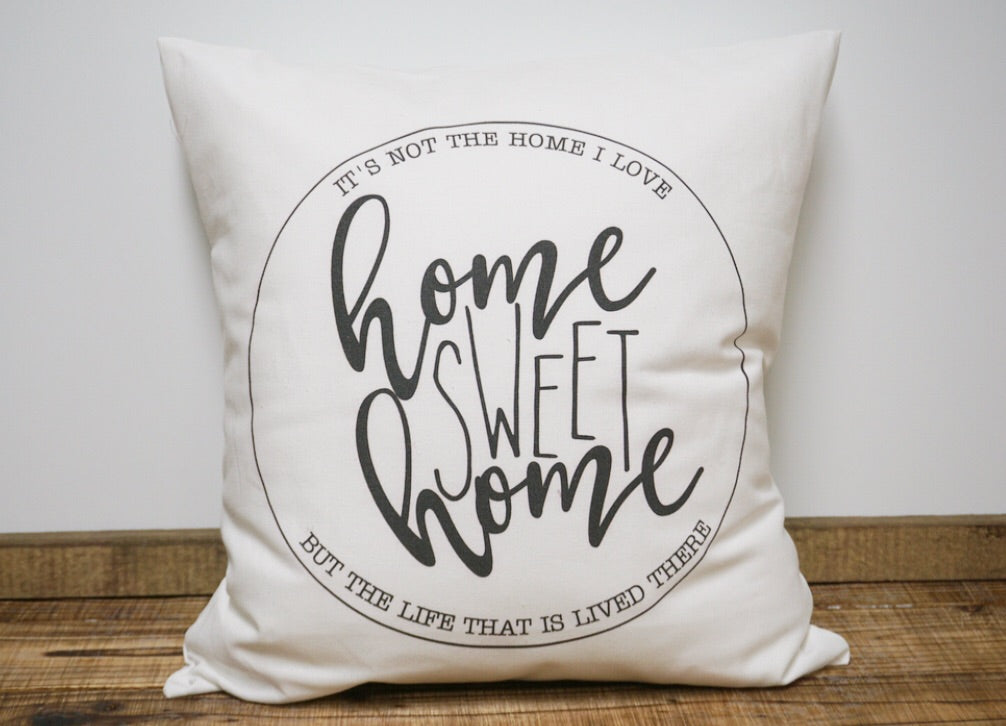 Home Sweet Home Canvas Pillow