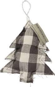 Black & White Buffalo Check Ornaments