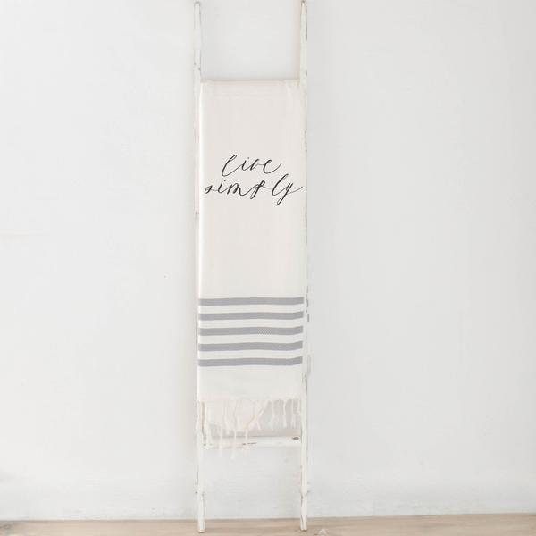 Live Simply Striped Throw Blanket