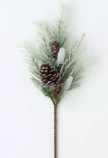 Artificial Pine Branch w/ Pinecones