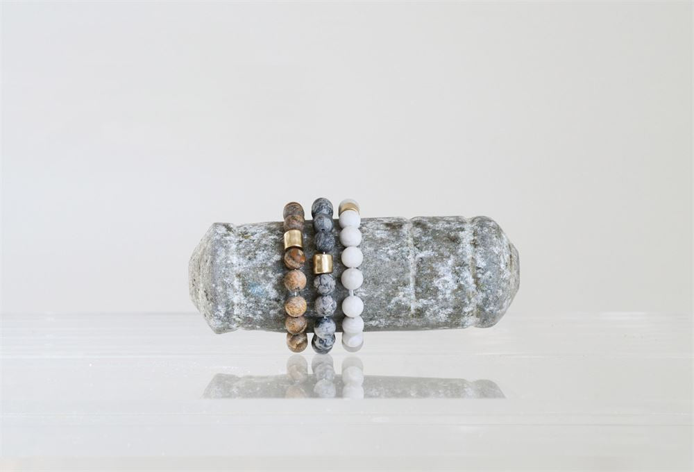 Stone Stretch Beaded Bracelet