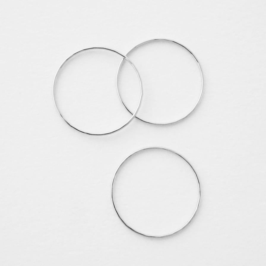 Skinny Hammered Stacking Rings