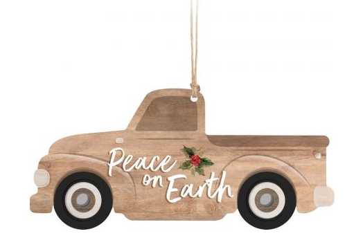 Wood Truck Ornaments