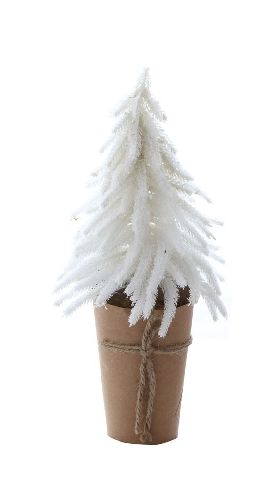 Artificial Tree W Paper Wrapped Pot White The Faded Farmhouse