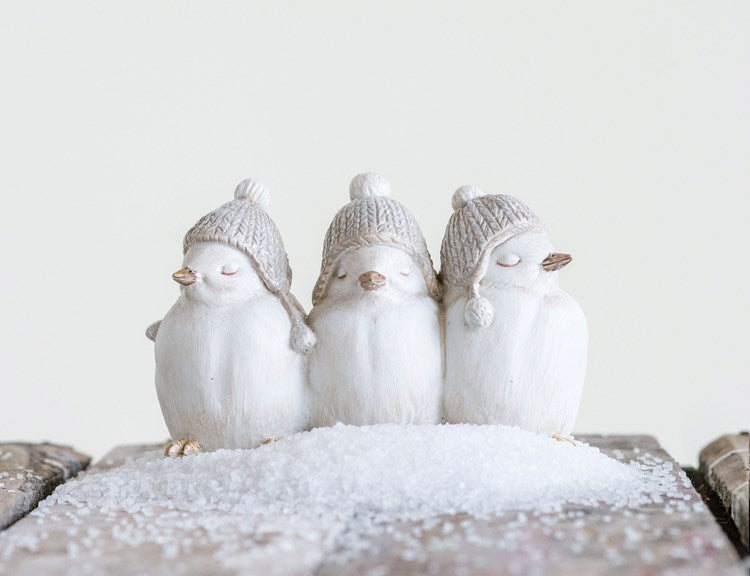 Resin Birds w/ Hats