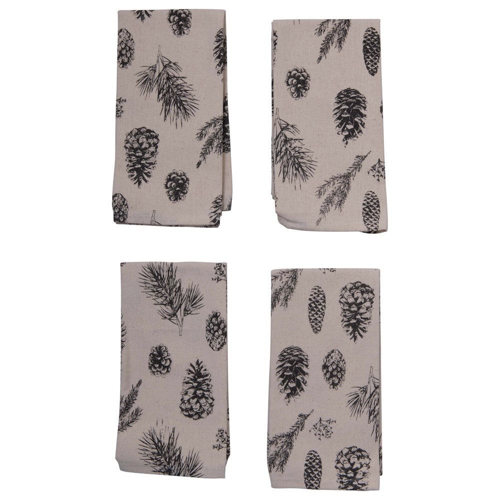 Napkin Set w/ Pinecones
