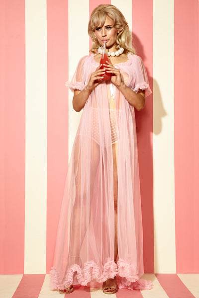 Long Sheer Dressing Robe