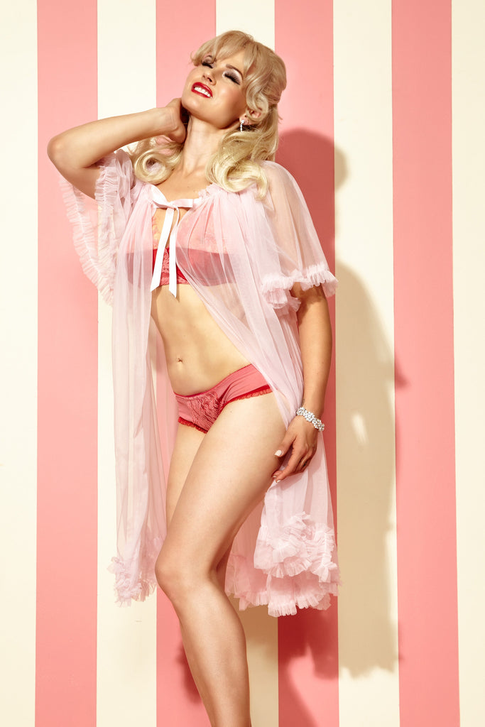 IN STOCK Short Sheer Dressing Robe
