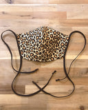 Small Leopard Print Fabric Mask