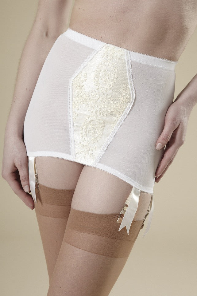 Millie White Girdle Skirt