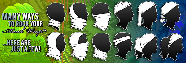 Many Ways to Wear your Monk Wrap™, Face Shield, Head Wear, Bandana