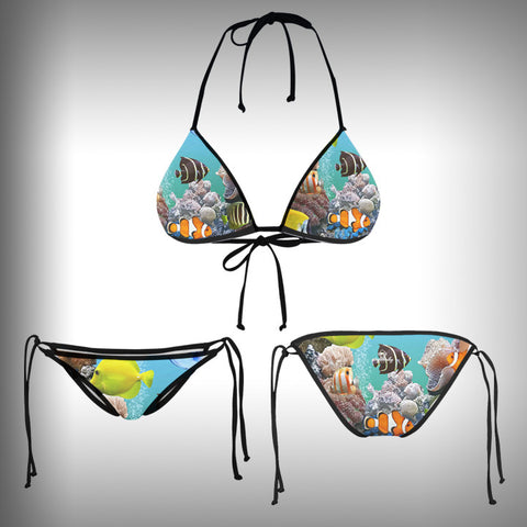Monkinis™ Custom Full color Bikini - Aquarium Top and Bottom - SurfmonkeyGear  - 1