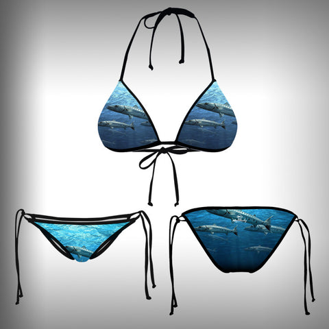 Monkinis™ Custom Full color Bikini - Baracuda Top and Bottom - SurfmonkeyGear  - 1