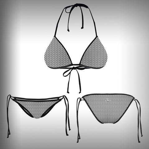Monkinis™ Custom Full color Bikini - Chain Mail Top and Bottom - SurfmonkeyGear  - 1
