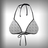 Monkinis™ Custom Full color Bikini - Diamond Plate Top and Bottom - SurfmonkeyGear  - 2