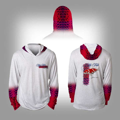 Surfmonkey Gear Fish Headzies™ Performance Solar Hoodie Shirt - Koi - SurfmonkeyGear  - 1