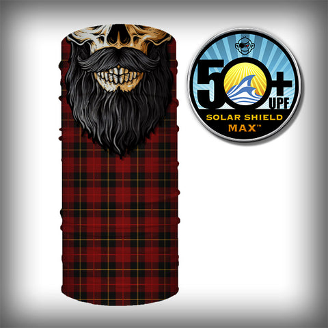 Monk Wrap Neck Gaiter - Face Shield - Bandana - Lumberjack Skull Beard