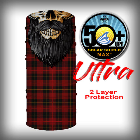 Monk Wrap Neck Gaiter - Face Shield - Bandana - Lumberjack Skull Ultra