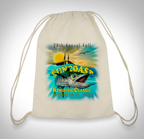 Suncoast Kingfish Classic Drawstring Bag