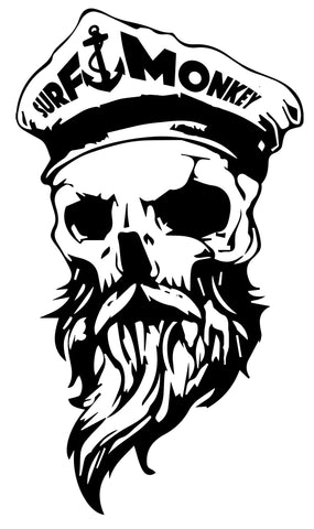Bearded Skull Decal Sticker Surfmonkey - SurfmonkeyGear
