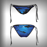 Monkinis™ Custom Full color Bikini - Shark Frenzy Top and Bottom - SurfmonkeyGear  - 3