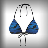 Monkinis™ Custom Full color Bikini - Shark Frenzy Top and Bottom - SurfmonkeyGear  - 2